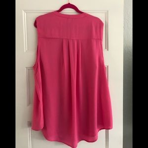 Torrid Pink Sleeveless Blouse with Pockets